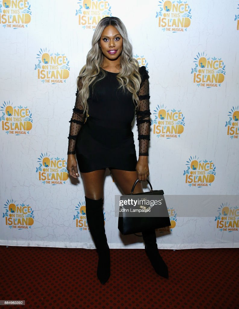 Laverne Cox attneds 'Once On This Island' Broadway opening night at Circle in the Square Theatre on December 3, 2017 in New York City.
