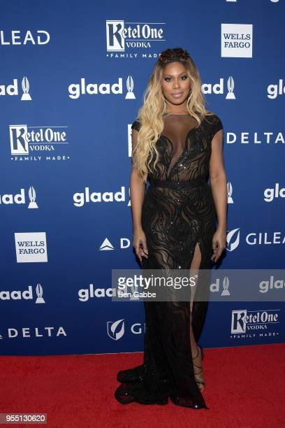Laverne Cox celebrates achievements in the LGBTQ community at the 29th Annual GLAAD Media Awards New York in partnership with LGBTQ ally Ketel One...