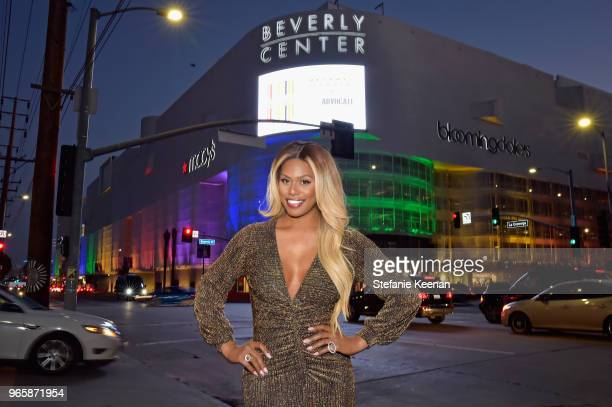 Laverne Cox celebrates at Beverly Center and The Advocate's Champions of PRIDE Event on June 1 2018 in Los Angeles California