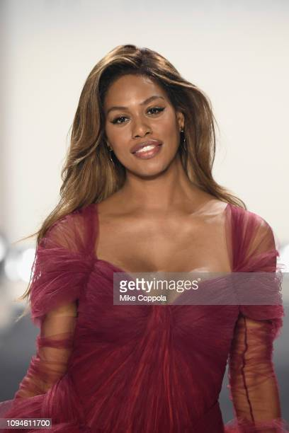 Laverne Cox fiercely twirls down the runway for the 11 Honore fashion show during New York Fashion Week: The Shows at Gallery I at Spring Studios on...