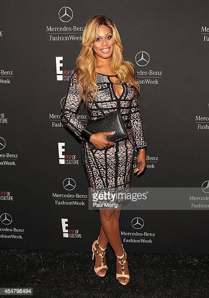 Laverne Cox is seen during MercedesBenz Fashion Week Spring 2015 at Lincoln Center for the Performing Arts on September 6 2014 in New York City