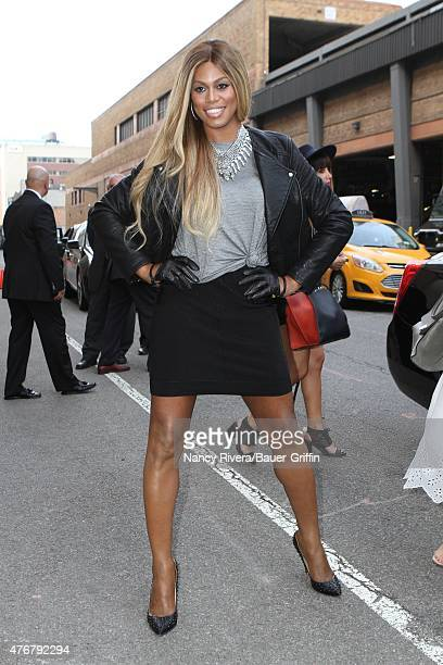 Laverne Cox is seen in New York City on June 11 2015 in New York City