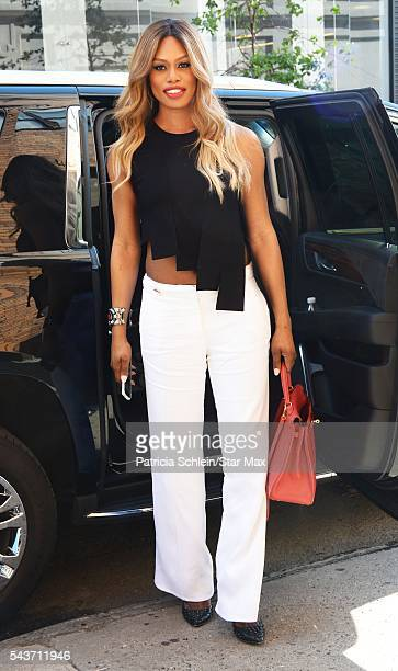 Laverne Cox is seen on June 29 2016 in New York City