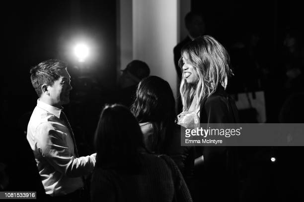 Laverne Cox speaks during the 25th Annual Screen Actors Guild Awards Nominations Announcement at Pacific Design Center on December 12 2018 in West...