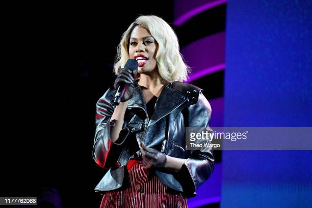 Laverne Cox speaks onstage during the 2019 Global Citizen Festival: Power The Movement in Central Park on September 28, 2019 in New York City.