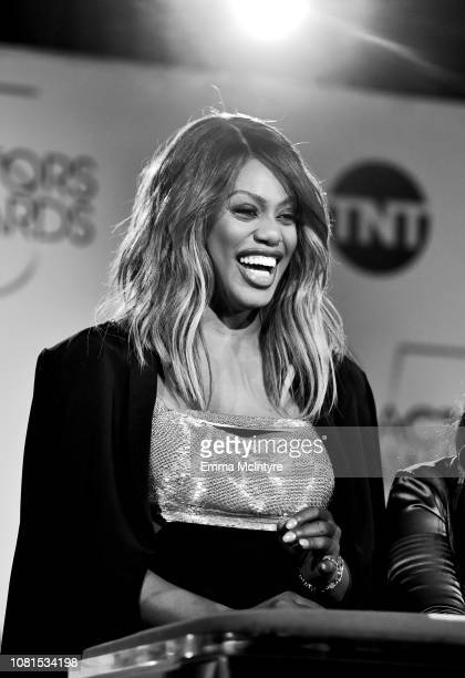 Laverne Cox speaks onstage during the 25th Annual Screen Actors Guild Awards Nominations Announcement at Pacific Design Center on December 12 2018 in...