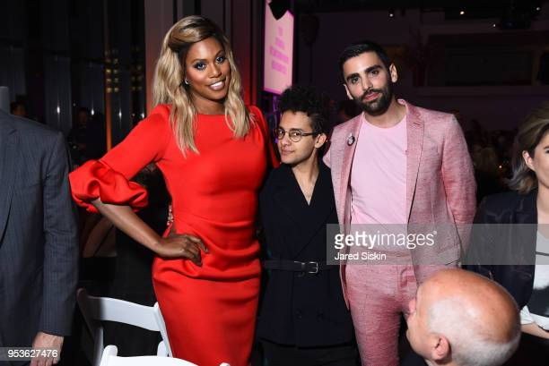 Laverne Cox Tyler Ford and Phillip Picardi attend Planned Parenthood Of New York City Spring Gala Honoring Cecile Richards And Laverne Cox at Spring...