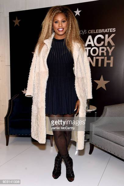 Laverne Cox visits Macy's Herald Square at Macy's Herald Square on February 22 2018 in New York City