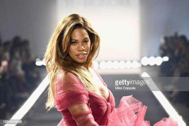 Laverne Cox walks the runway for the 11 Honore fashion show during New York Fashion Week The Shows at Gallery I at Spring Studios on February 6 2019...