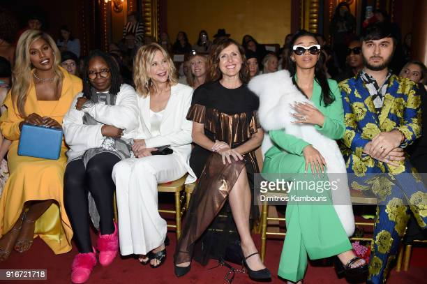 Laverne Cox Whoopi Goldberg Meg Ryan Molly Shannon Cardi B and Brad Walsh attend the Christian Siriano fashion show during New York Fashion Week at...