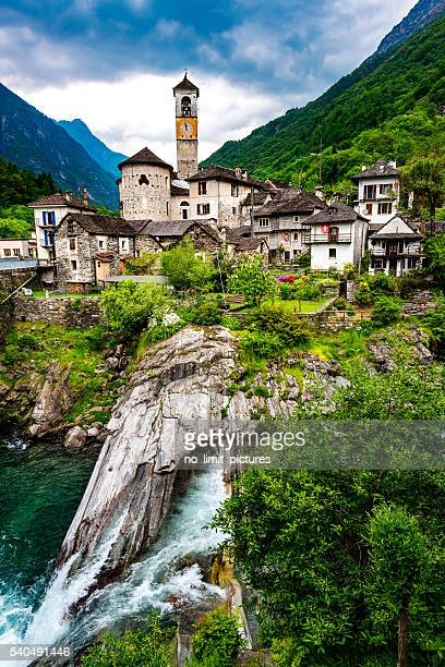 Lavertezzo in valley verzasca in Switzerland