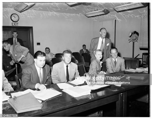 Lavery slander suit July 11 1951 Attorney Max FinkAttorney Pat McCormickPatrick D Horgan Emmett LaveryMrs Lela RogersMore descriptive information...