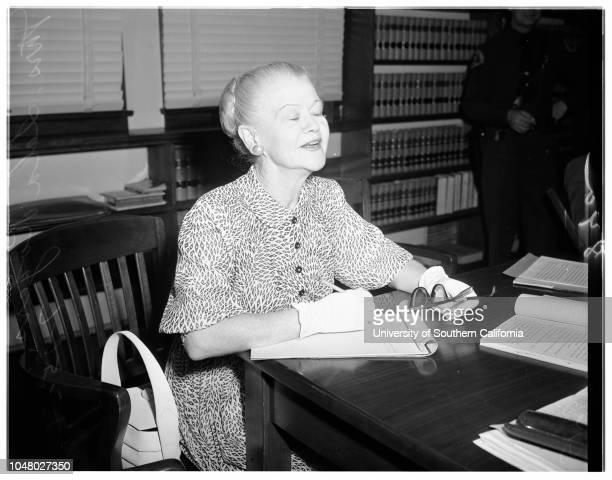 Lavery slander suit July 25 1951 Mrs Lela Rogers