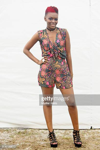 Lavie backstage at the 11th Annual Jazz In The Gardens Music Festival Day 2 at Sunlife Stadium on March 20 2016 in Miami Florida