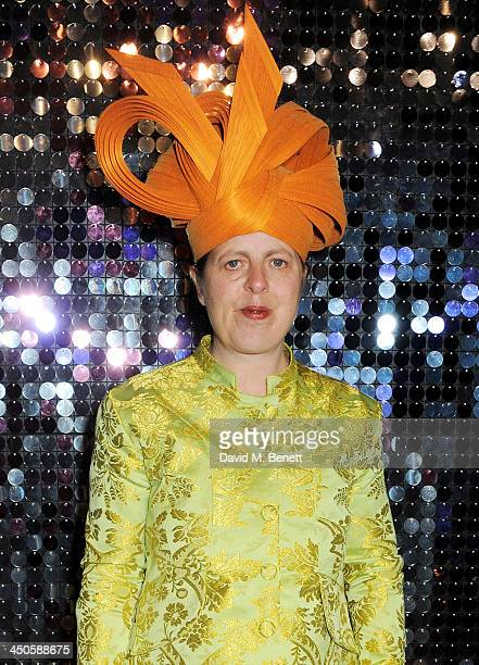 Lavinia Blow attends the private view of Isabella Blow Fashion Galore a new Somerset House exhibition at Somerset House on November 19 2013 in London...