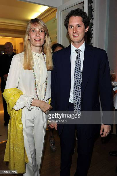 CANNES FRANCE MAY 15 Lavinia Borromeo and John Elkann attend the Vanity Fair and Gucci Party Honoring Martin Scorsese during the 63rd Annual Cannes...