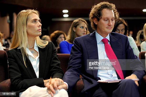Lavinia Borromeo and John Elkann President of FIAT group attend the Women Science and Technology convention at Museo della Scienza e della Tecnica on...