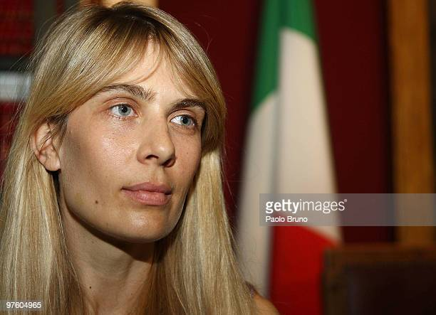 Lavinia Borromeo Elkann attends a press conference for the presentation of the Torino 2010 ISU World Figure Skating Championships at Montecitorio...