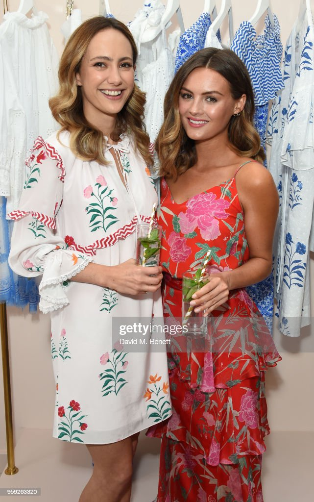 Lavinia Brennan and Niomi Smart attend the Beulah London store opening on May 16, 2018 in London, England.