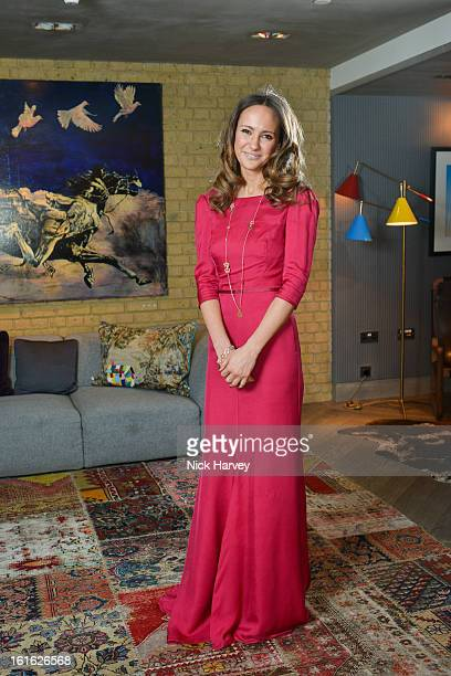 Lavinia Brennan attends at Bungalow 8 presents Beulah London hosted by Amy Sacco at Belgraves A Thompson Hotel on February 13 2013 in London England