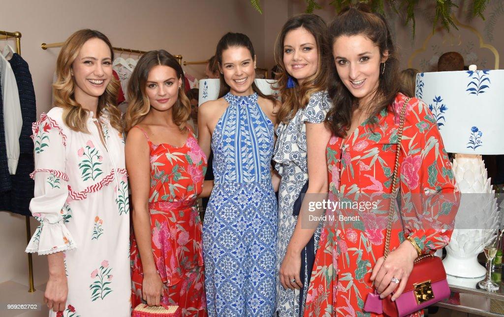 Lavinia Brennan, Niomi Smart, Sarah Ann Macklin, Natasha Rufus Issacs and Rosanna Falconer attend the Beulah London store opening on May 16, 2018 in London, England.