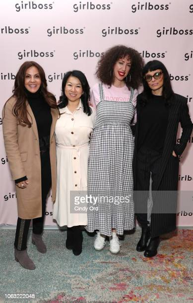 Lavinia Errico, Shan-Lyn Ma, Jerico Mandybur and Norma Kamali attend Girlboss Rally NYC 2018 at Knockdown Center on November 17, 2018 in Maspeth, New...