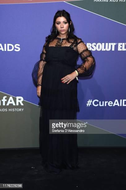 Lavinia Fuksas attends the amfAR Gala Milano 2019 at Palazzo Mezzanotte on September 21 2019 in Milan Italy