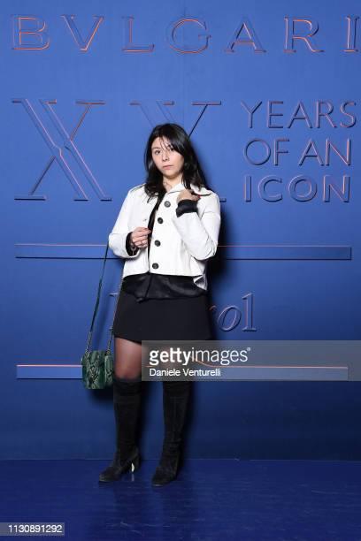 Lavinia Fuksas attends the Bvlgari BZERO1 XX Anniversary Global Launch Event at Auditorium Parco Della Musica on February 19 2019 in Rome Italy