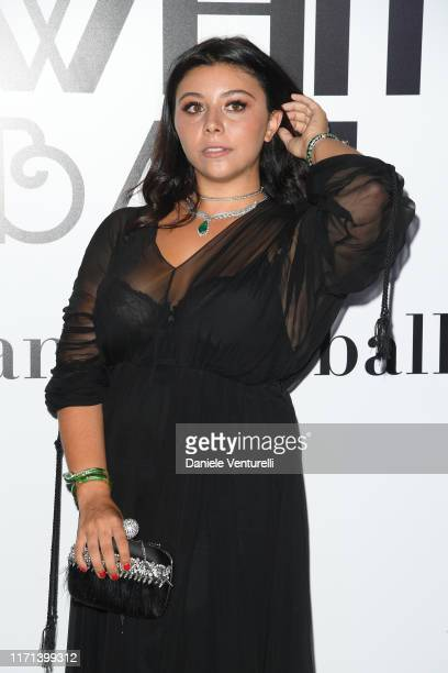 Lavinia Fuksas attends the Vanity Fair Black And White Ball Photocall during the 76th Venice Film Festival at Scuola Grande della Misericordia on...