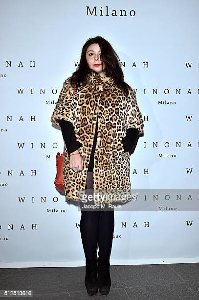 Lavinia Fuksas attends Winonah VIP Cocktail photocall during Milan Fashion Week Fall/Winter 2016/17 on February 26 2016 in Milan Italy