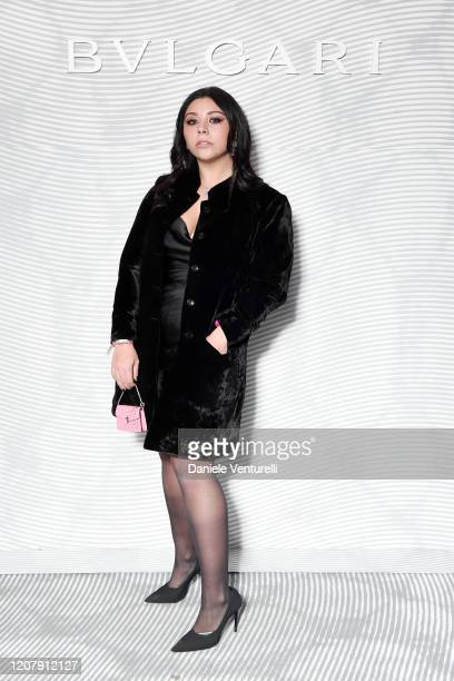 Lavinia Fuksas attens the Bulgari FW 20 Leather Goods and Accessories Collection Party on February 21 2020 in Milan Italy
