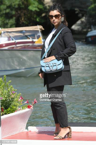 Lavinia Fuksas is seen arriving at the Excelsior during the 77th Venice Film Festival on September 04 2020 in Venice Italy