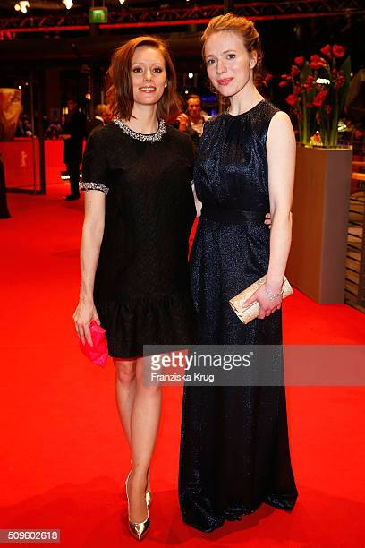 Lavinia Wilson and Anna Brueggemann attend the opening party of the 66th Berlinale International Film Festival Berlin at Berlinale Palace on February...