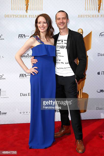 Lavinia Wilson and Barnaby Metschurat attend the Lola German Film Award 2014 at Tempodrom on May 09 2014 in Berlin Germany