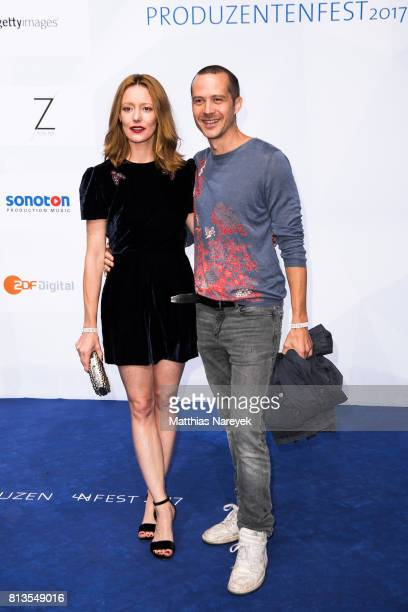 Lavinia Wilson and Barnaby Metschurat attend the Summer Party of the German Producers Alliance on July 12 2017 in Berlin Germany