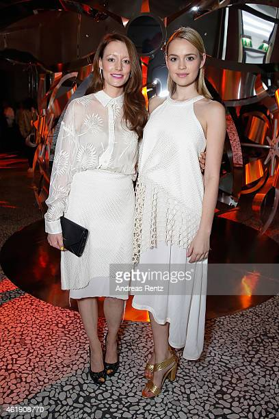 Lavinia Wilson and Emilia Schuele attend the Kaviar Gauche Show during the MercedesBenz Fashion Week Berlin Autumn/Winter 2015/16 at Palazoo Italia...