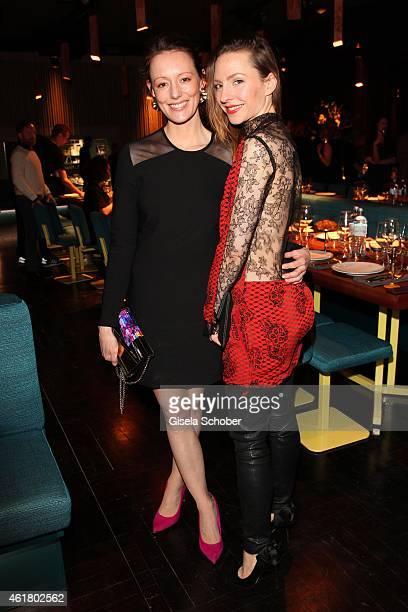 Lavinia Wilson and Katharina Schuettler attend the LaLa Berlin Dinner with Cinderella during the MercedesBenz Fashion Week Berlin Autumn/Winter...