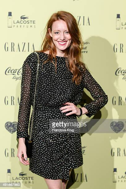 Lavinia Wilson attends the 5th anniversary celebrations of the GRAZIA magazine at Grill Royal on October 08 2015 in Berlin Germany