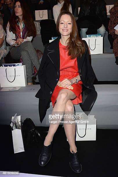 Lavinia Wilson attends the Isabell de Hillerin show during the MercedesBenz Fashion Week Berlin Autumn/Winter 2015/16 at Brandenburg Gate on January...