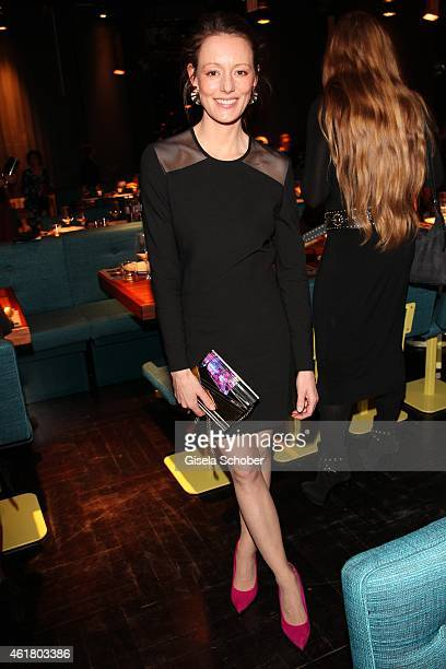 Lavinia Wilson attends the LaLa Berlin Dinner with Cinderella during the MercedesBenz Fashion Week Berlin Autumn/Winter 2015/16 at Crackers on...