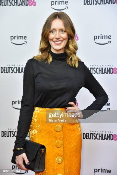 Lavinia Wilson attends the premiere for the film 'Deutschland86' at Kino International on October 11 2018 in Berlin Germany