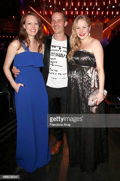 Lavinia Wilson Barnaby Metschurat and Jasmin Schwiers attend the Lola German Film Award 2014 at Tempodrom on May 09 2014 in Berlin Germany