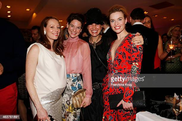 Lavinia Wilson Bibiana Beglau Kim St Clair Bodden and Thekla Reuten attend the Burda Style Cocktail on January 16 2014 in Berlin Germany
