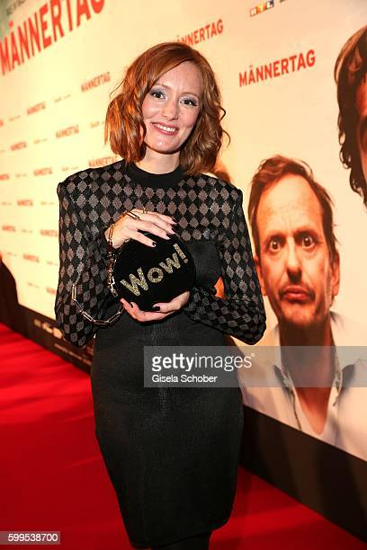 Lavinia Wilson during the premiere for the film 'Maennertag' at Mathaeser Filmpalast on September 5 2016 in Munich Germany