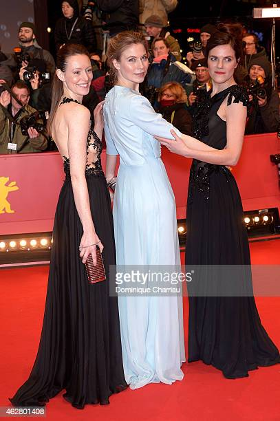 Lavinia Wilson Nora von Waldstaetten and Fritzi Haberlandt attend the 'Nobody Wants the Night' premiere and Opening Ceremony of the 65th Berlinale...