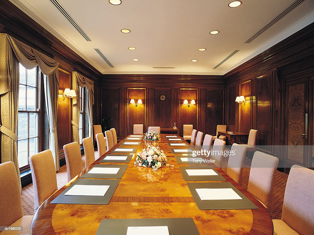 Lavish boardroom : Stock Photo