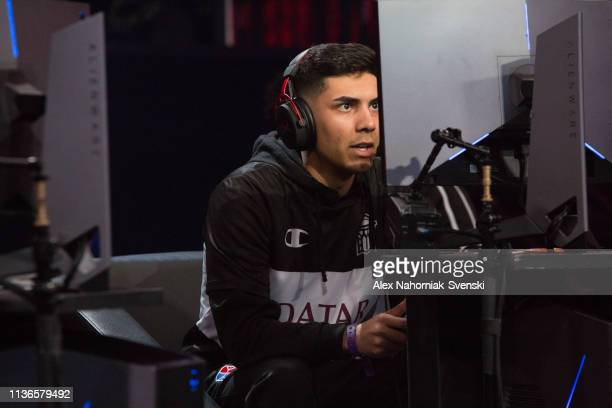 Lavish of Nets Gaming Club looks on during a game against Kings Guard Gaming during an NBA 2K League game on April 12 2019 at the NBA 2K Studio in...