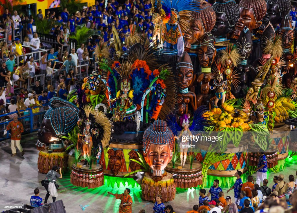 Lavishly Decorated Parade Float in Sambadromo, Rio de Janeiro, Brazil : Stock Photo