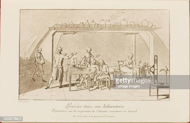 Lavoisier in his laboratory Early 19th cen Private Collection