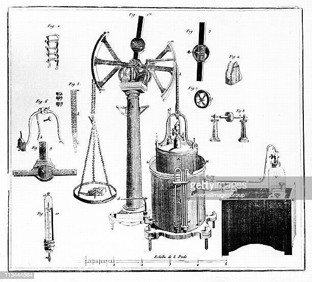 Lavoisier's apparatus for weighing gases From his Traite Elementaire de Chimie Paris 1789 Antoine Laurent Lavoisier French chemist one of the...